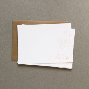 Peony-Flower-Letterpress-Stationery