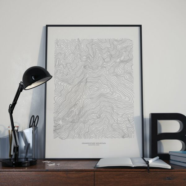 Grandfather Mountain Topographic Map Poster